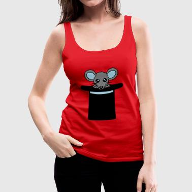 cylinder hat magician magician mouse cute cute k - Women's Premium Tank Top