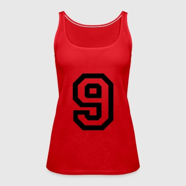 number - 9 - nine - Women's Premium Tank Top