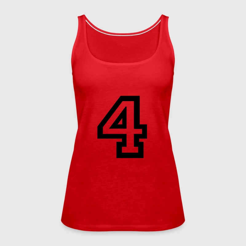 number - 4 - four - Women's Premium Tank Top