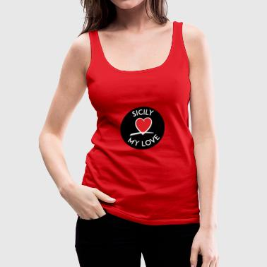 SML ICON BLACK CIRCLE - Tank top damski Premium