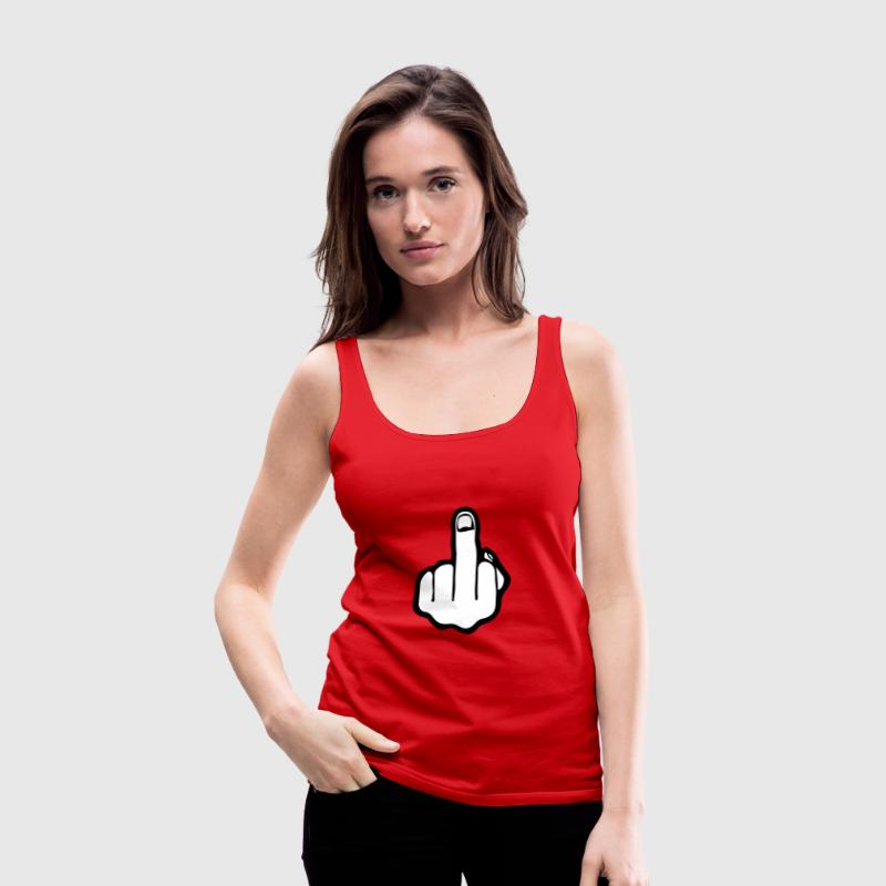 fuck you, middle finger - Women's Premium Tank Top