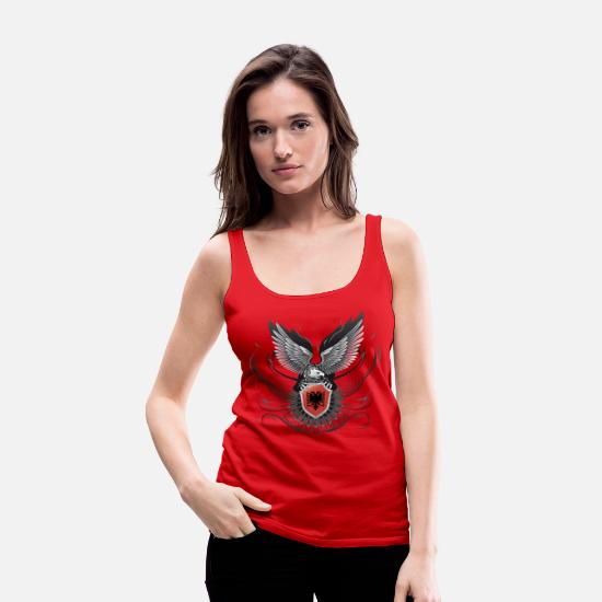 Strong Tank Tops - Shqiponja/Albania #02 - Women's Premium Tank Top red