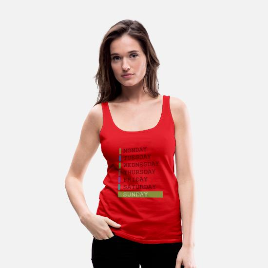 Week Tank Tops - Sunday weekday clothing decision support - Women's Premium Tank Top red