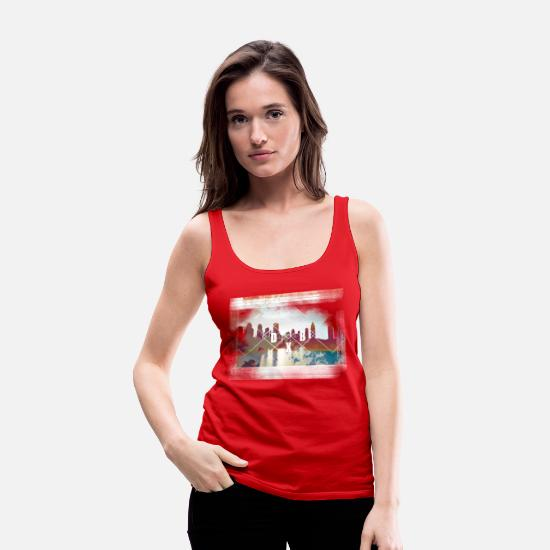 Middle East Tank Tops - Dubai nights - Women's Premium Tank Top red