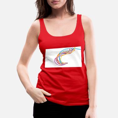 Colorful waves - Women's Premium Tank Top