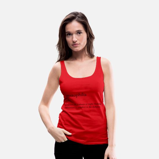 Love Tank Tops - nyctophilia - Women's Premium Tank Top red