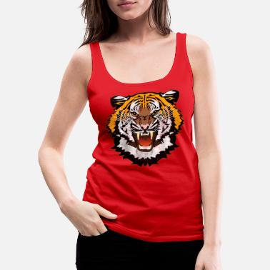 Bad Look Tiger Graphic Used Look Bad Look T-Shirt - Women's Premium Tank Top