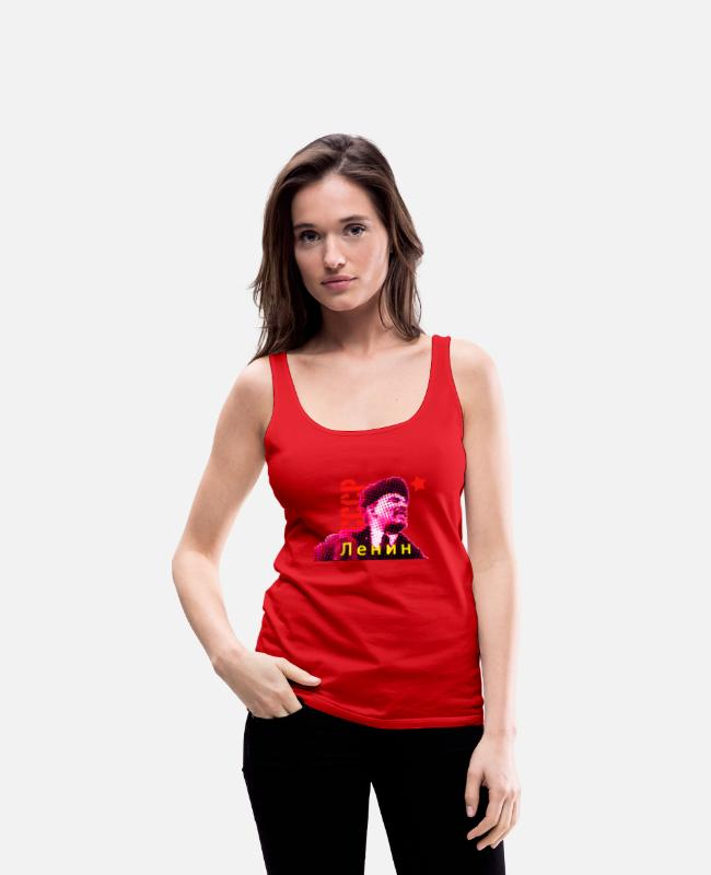 Father's Day Tank Tops - Lenin Ленин - USSR - Women's Premium Tank Top red
