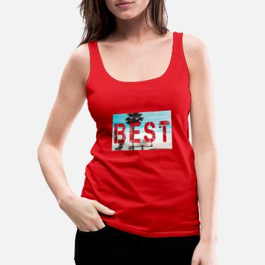 Best letter with landscape background - Women's Premium Tank Top