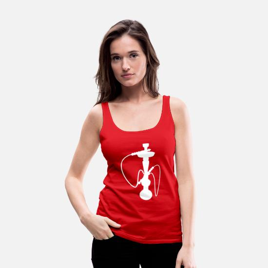Shisha Tank Tops - hookah - Women's Premium Tank Top red