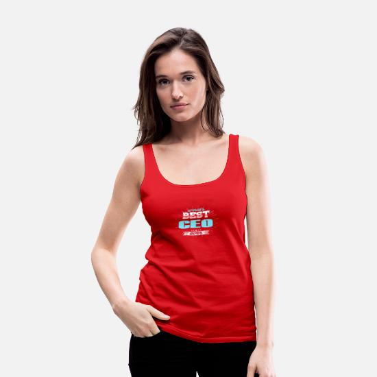 Birthday Tank Tops - CEO - Women's Premium Tank Top red