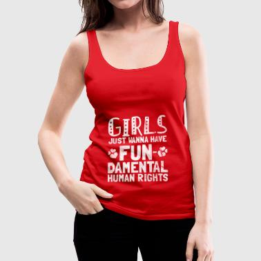 Shirt for Feminist - Women want rights - Women's Premium Tank Top