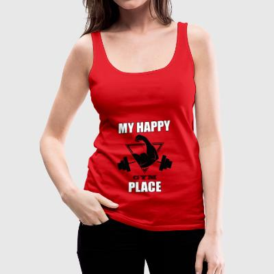 My Happy Place Gym Tee Shirt Gift - Women's Premium Tank Top