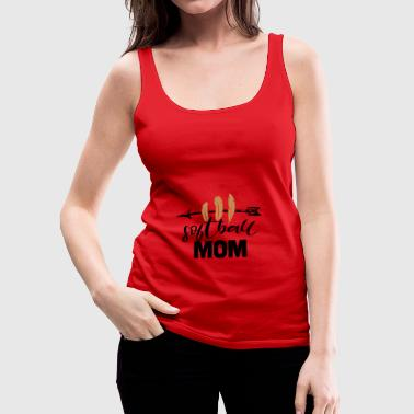 Softball Mom - Frauen Premium Tank Top