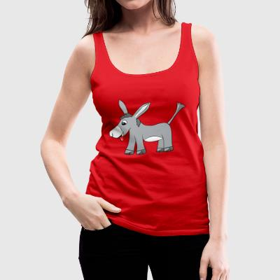 Mooki the careless donkey - Women's Premium Tank Top