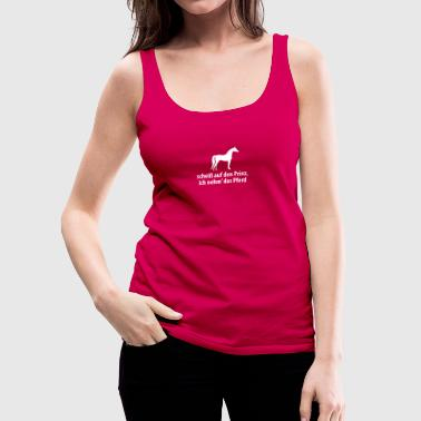 Prinz Pferd Pony scheißegal reiten Single Flirt - Frauen Premium Tank Top