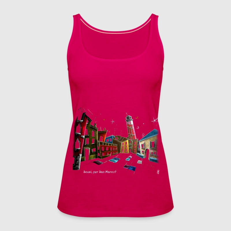 Art T-shirt Design Venice Italy - Children Fantasy Illustration - Women's Premium Tank Top