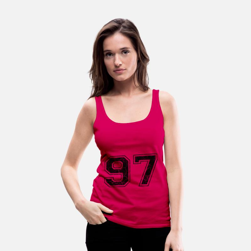 1997 Tank Tops - Number 97 in the grunge look - Women's Premium Tank Top dark pink