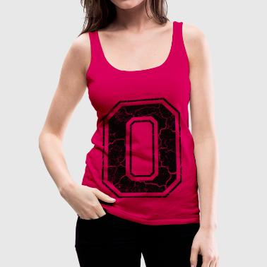 Grunge Letter O in the grunge look - Camiseta de tirantes premium mujer