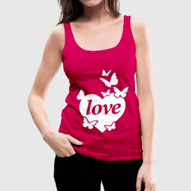 Love Butterflies - Women's Premium Tank Top