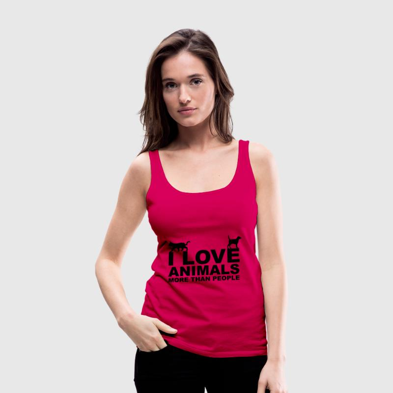 I Love Animals - Vrouwen Premium tank top