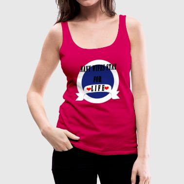 NAVY WIFE - Frauen Premium Tank Top