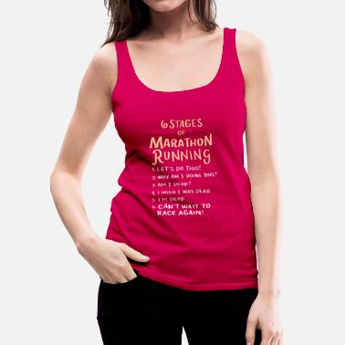 Marathon Runner Stages Jogging Marathon Sport Training Gift - Women's Premium Tank Top