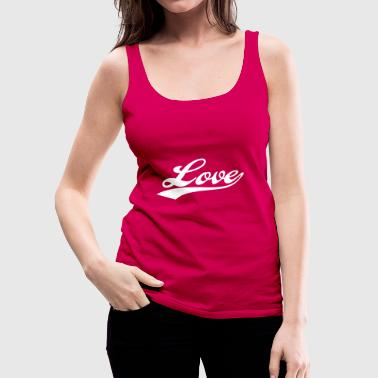 LOVE - i love you - Tank top damski Premium
