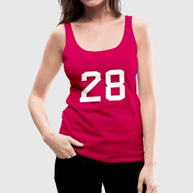 Number 28 - Frauen Premium Tank Top