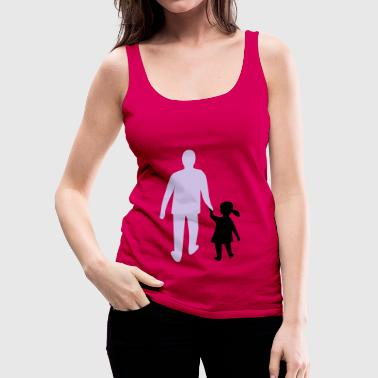 missing father and daughter - Women's Premium Tank Top