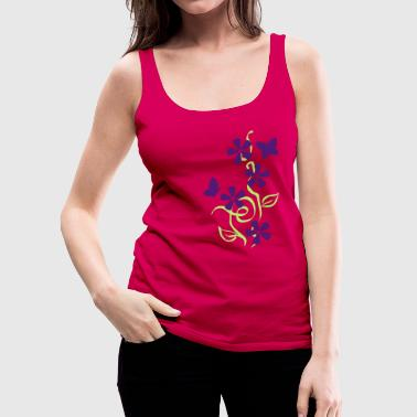 butterflies and flowers - Women's Premium Tank Top