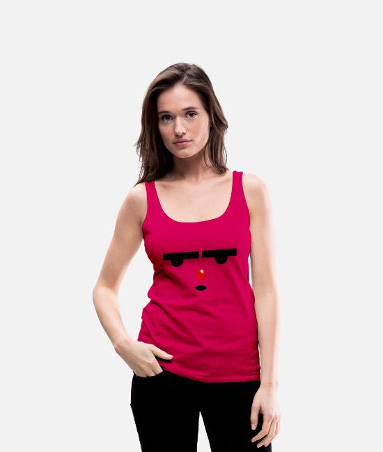 Haha Tank Tops - Mad Face - Frauen Premium Tanktop dunkles Pink