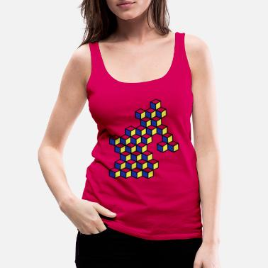 Dice and dice in bright colors - Women's Premium Tank Top