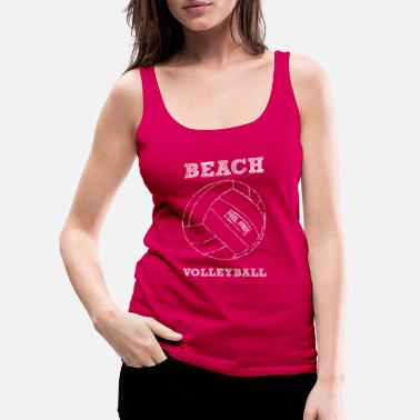 retro beach volleyball beach volleyball logo - Women's Premium Tank Top