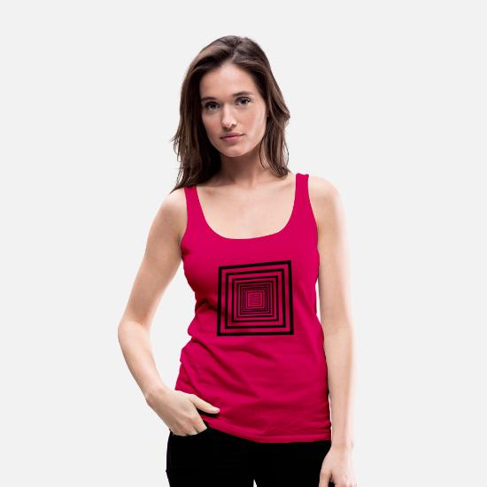 Shape Tank Tops - rectangles - Women's Premium Tank Top dark pink