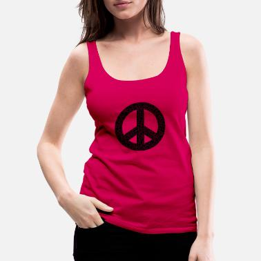 Dove Of Peace Peace symbol drawing - Women's Premium Tank Top