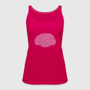 geometric maze brain - Women's Premium Tank Top