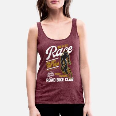 Pusher Bicycle Race Road Bike Cycling Club Cyclist Gift - Women's Premium Tank Top