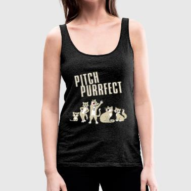Pitch Purrfect - Women's Premium Tank Top