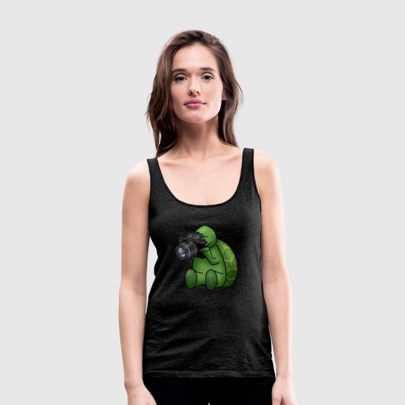 turtle with camera - Women's Premium Tank Top