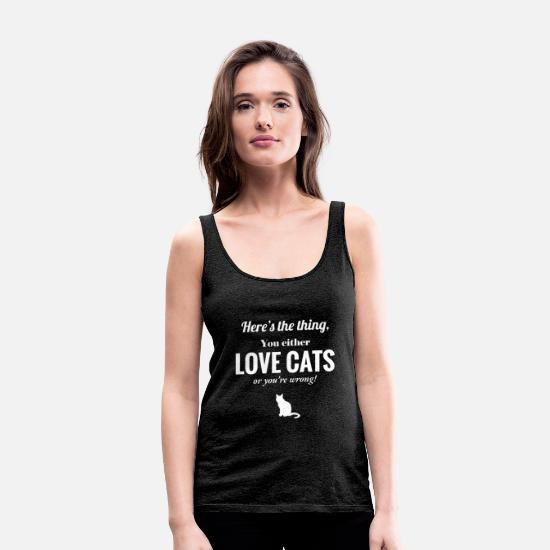 Cat Tanktops - Catcrit - Cats - Cat - Cat fans - Vrouwen premium tank top houtskool
