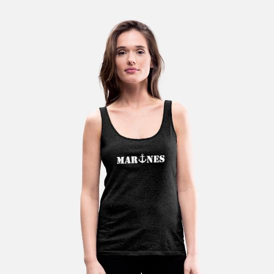 Army Tank Tops - Marines - Women's Premium Tank Top charcoal grey
