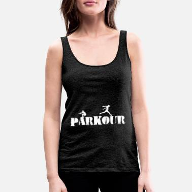 Free Running Parkour Sport Freerunning Sprayed - Women's Premium Tank Top