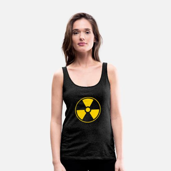 Toxic Tank Tops - DANGER !!! - Women's Premium Tank Top charcoal grey