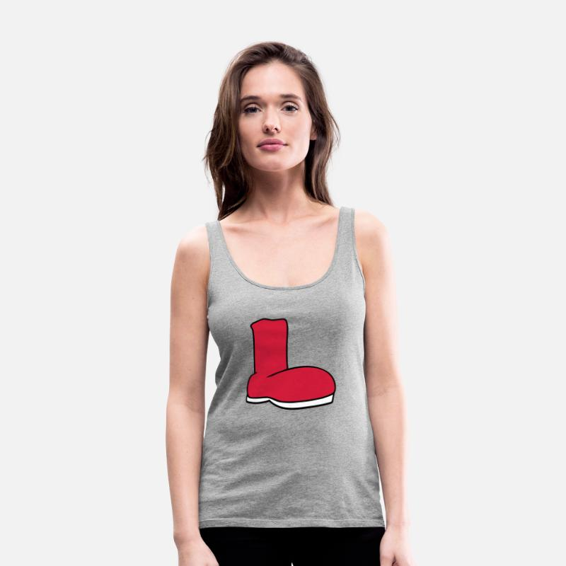 79d2aad98100b8 stiefel schuh anziehen klamotten schuhe weihnachte Frauen Premium Tanktop