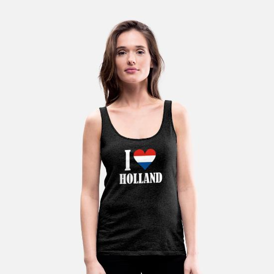 Love Tank Tops - I LOVE HOLLAND - Women's Premium Tank Top charcoal grey