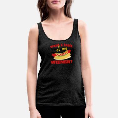 Captain Funny Weiner Hot Dog Hotdogs TShirts Design - Women's Premium Tank Top