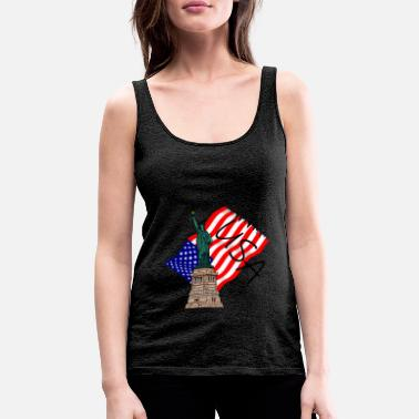 USA Statue of Liberty - Women's Premium Tank Top