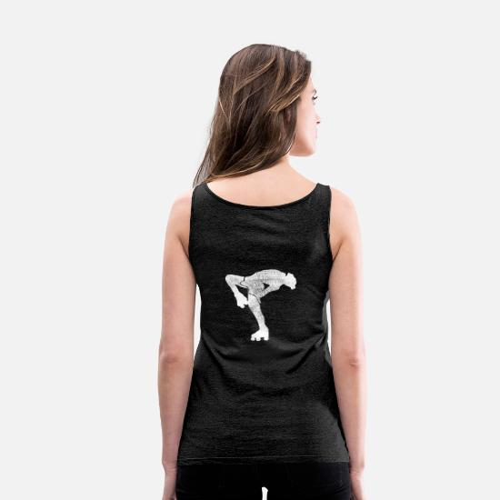 Rollerblades Tank Tops - Figure skating motif 11 - Women's Premium Tank Top charcoal grey