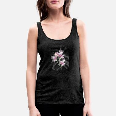 Nature Collection Watercolor Lilies Tattoo - Camiseta de tirantes premium mujer
